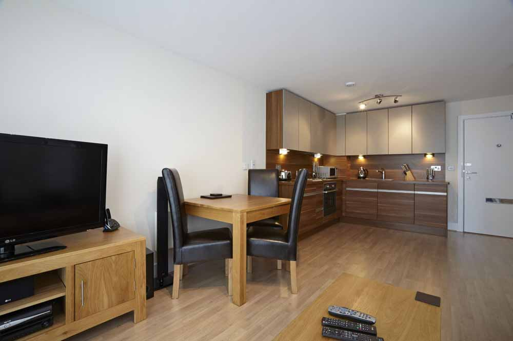 Studio Apartment - Kitchen and Dining Area