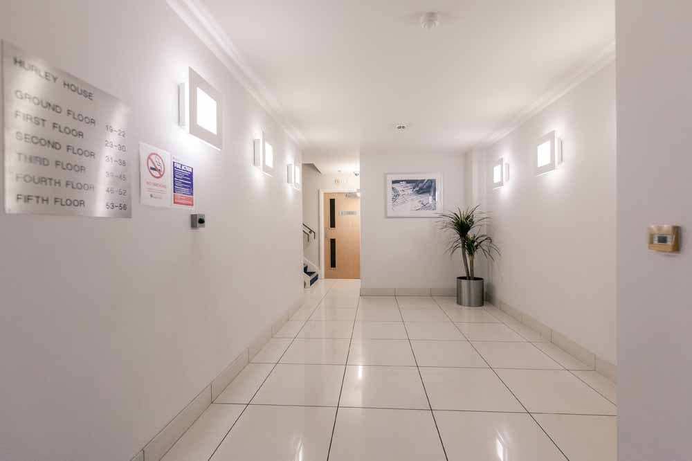 Hurley House Apartments - Building Hallway