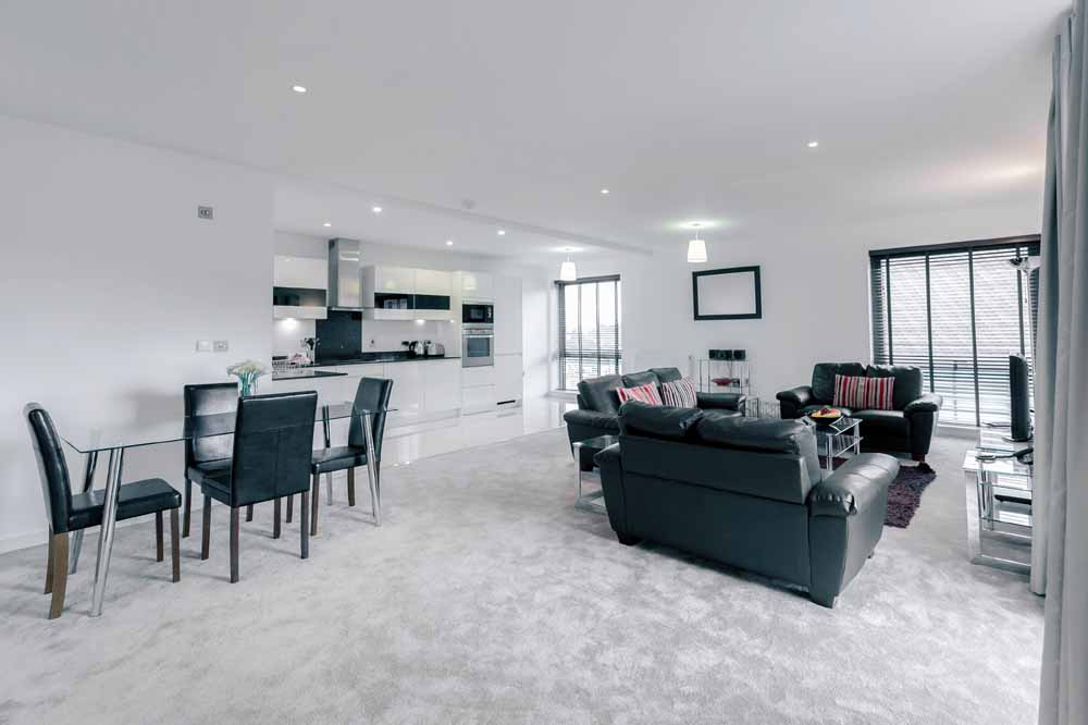 The Residence Apartments - Living and Dining Area