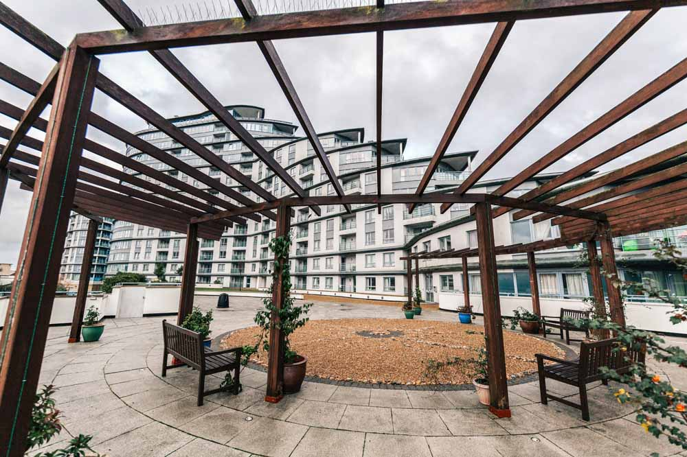 Centrium Apartments - Building Courtyard