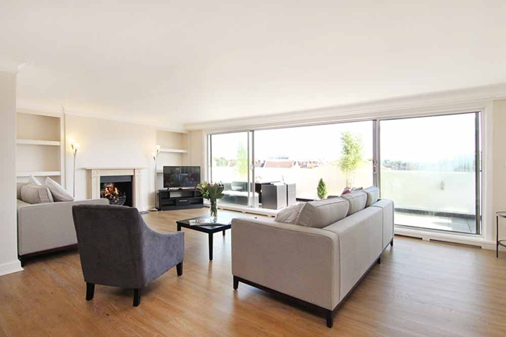 Three Bedroom Penthouse Apartment - Living Area