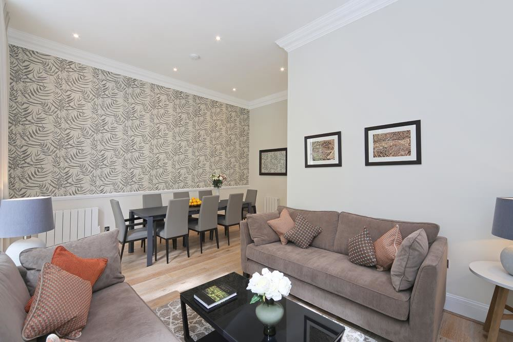 Deluxe Three Bedroom Apartment - Living Area