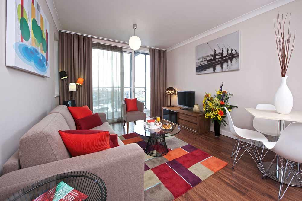 Premier One Bedroom Apartment - Living Area