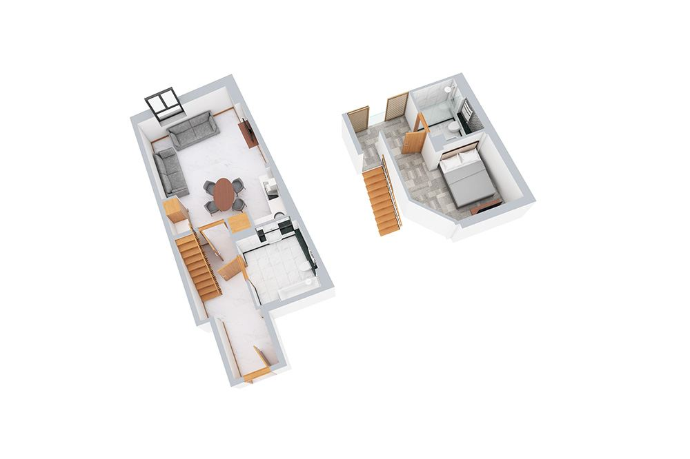One Bedroom Mezzanine Apartment