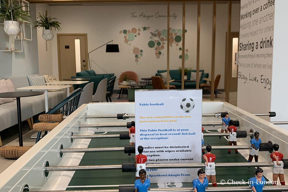 Table football in Guest lounge